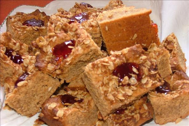Peanut Butter and Jelly Bars. Photo by Catherine Robson