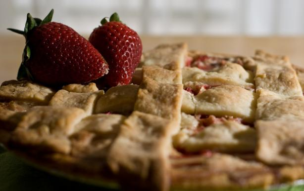Strawberry-Rhubarb Pie. Photo by Paradawks