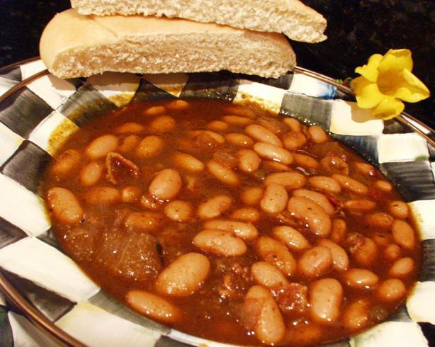 Smoky Baked Beans  (Originally Canary Baked Beans). Photo by FLKeysJen