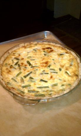 Asparagus Cheddar Quiche. Photo by AliBrooklynBaker