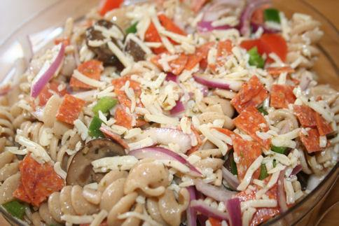 Supreme Pizza Pasta Salad. Photo by ~Nimz~