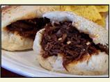 Barbecued Beef in Crusty Rolls