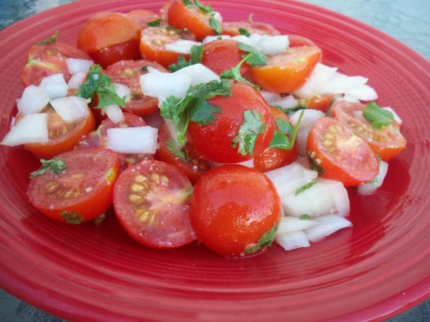 Tomato Salad with Ginger-Garlic Dressing. Photo by *Parsley*