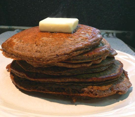 Uncle Bill's Best Buckwheat Pancakes. Photo by Mikekey