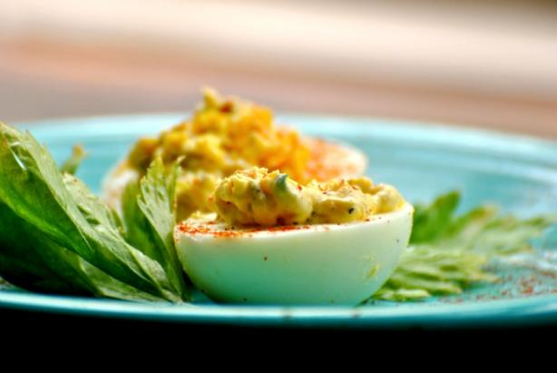 Easy Deviled Eggs. Photo by Andi of Longmeadow Farm