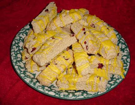 Lemon , Cranberry Biscotti With  a Hint of Cardamom. Photo by justcallmetoni