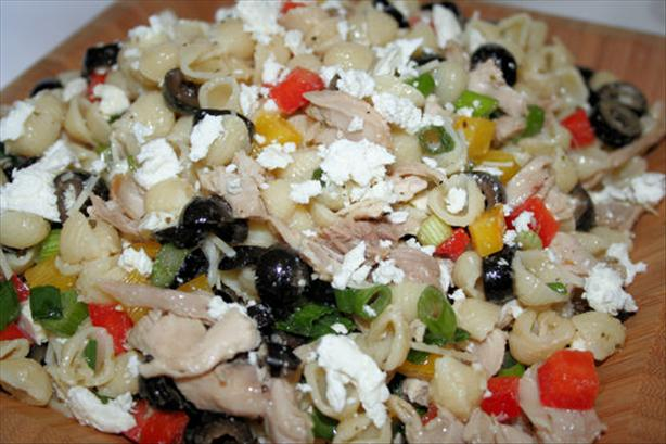Greek-Style Chicken Pasta Salad. Photo by ~Nimz~