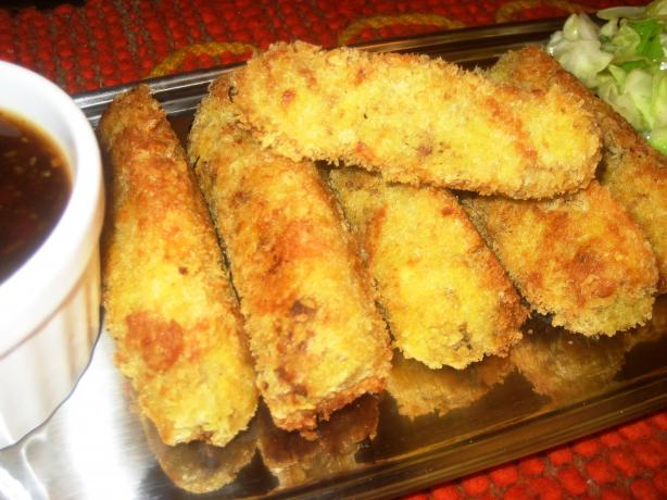 Korroke with Tonkatsu Sauce (Japanese Potato Croquettes with Eas. Photo by Pneuma