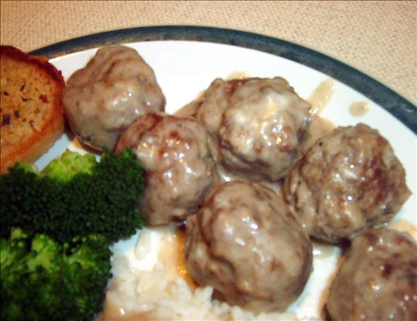 Meatballs in Creamy Mushroom Sauce. Photo by ~Leslie~