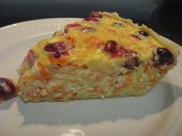 Sweet Potato Cranberry Quiche. Photo by 2CsMom