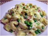Tortellini Ai Formaggi With Prosciutto and Peas