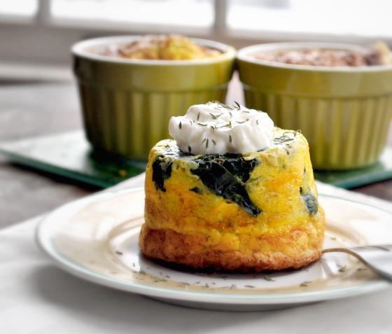 Easy Crustless Spinach Savoury Tart. Photo by Andi of Longmeadow Farm