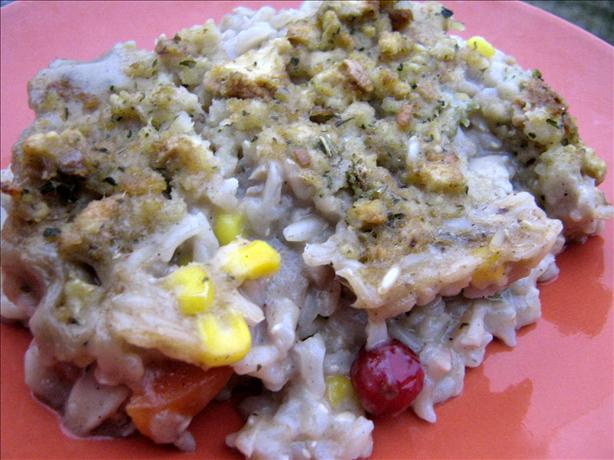 Turkey Pot Pie With Stuffing Crust (Using Leftovers). Photo by ~Leslie~