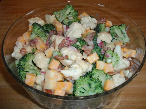 Broccoli Cauliflower Bacon Salad. Photo by ffhsb03
