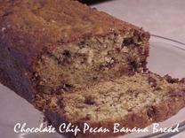 Chocolate Chip Pecan Banana Bread. Photo by RecipeNut
