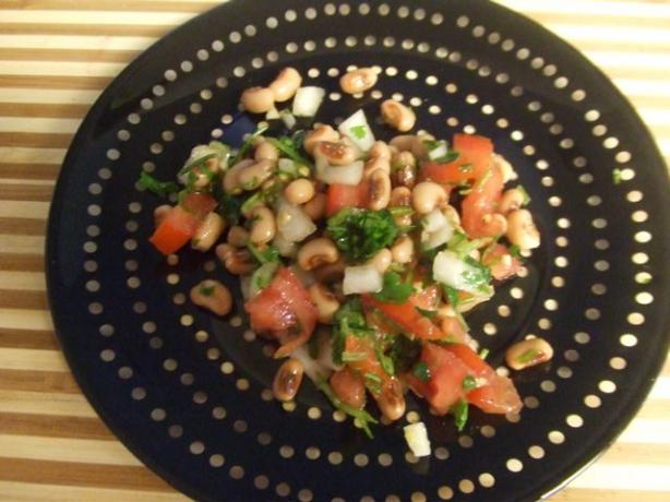 Lemony Black-Eyed Pea and Cilantro Salad. Photo by BayLeigh Ann