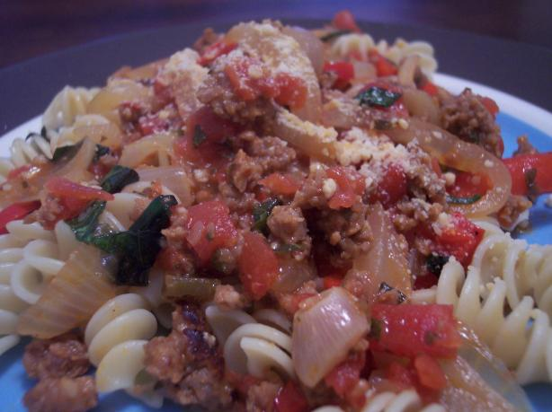Italian Pepper and Sausage Dinner. Photo by jrusk