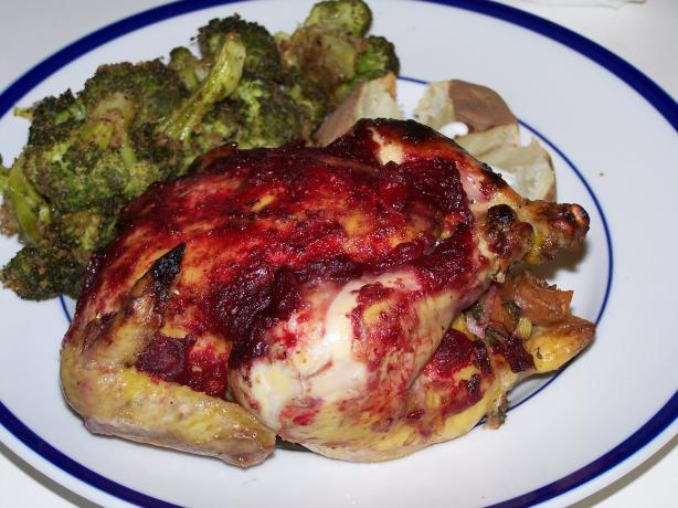 Stuffed Cornish Game Hens with Cranberry Glaze. Photo by Chef Jean