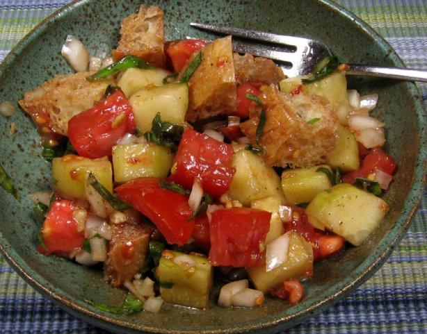 Panzanella (Italian Bread Salad). Photo by dianegrapegrower