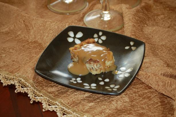 Old Fashion Bread Pudding With Caramel Sauce. Photo by susanrye