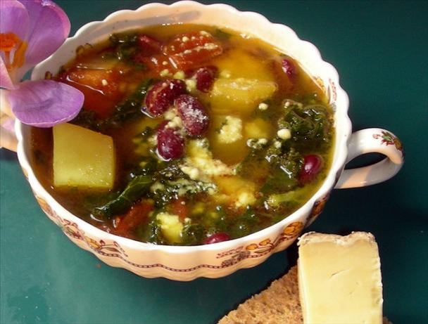 Hearty Portuguese Kale Soup. Photo by Andi of Longmeadow Farm
