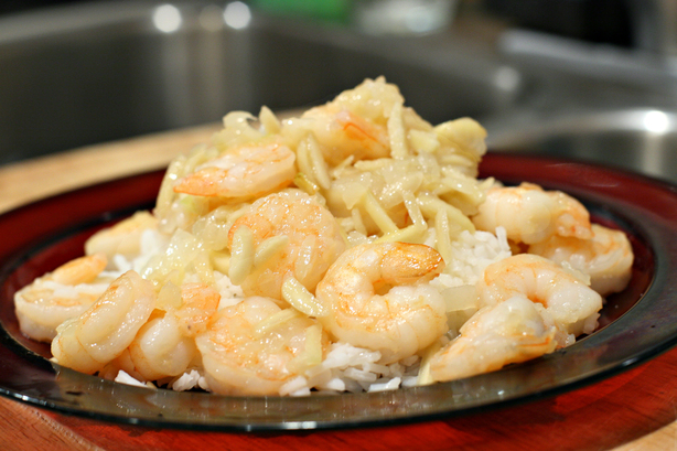 Almond Shrimp with Amaretto Butter. Photo by CulinaryExplorer