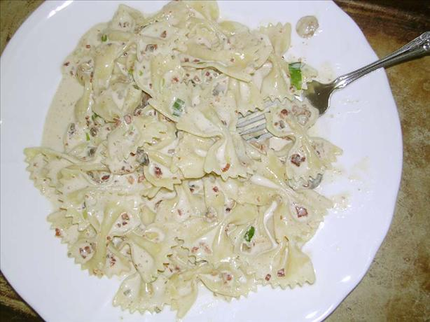 Creamy Pasta with Bacon. Photo by JenniferPT