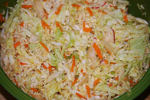 Simply Sensational Ramen Cabbage Salad. Photo by J-Lynn