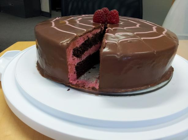 Chocolate Raspberry Mousse Cake. Photo by no cake mix