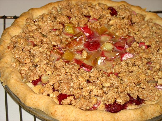 Rhubarb Raspberry Custard Pie. Photo by Lori Mama