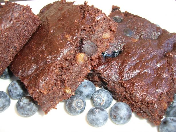 Low Fat Blueberry Brownies. Photo by Chef*Lee