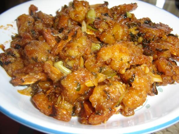 Manchurian Shrimp (Garlic Flavored Shrimp). Photo by Chef RH