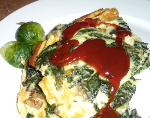 Fresh Spinach Mushroom Frittata. Photo by Bergy