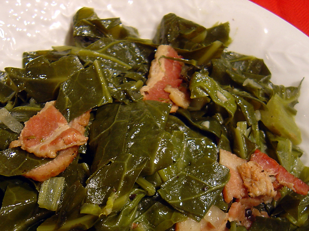 Crock Pot Collard Greens and Ham. Photo by :(