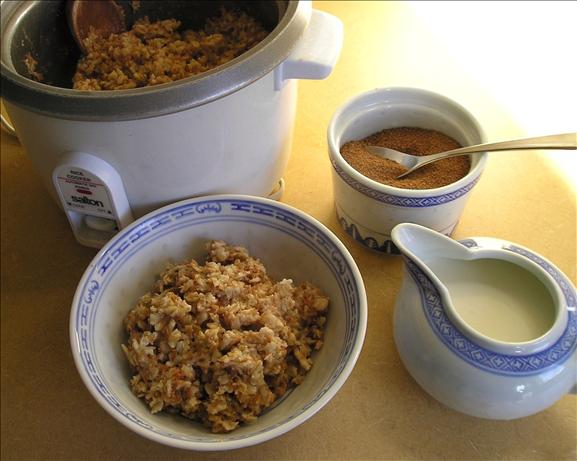 Oatmeal Cooked in a Rice Cooker. Photo by Jenny Sanders