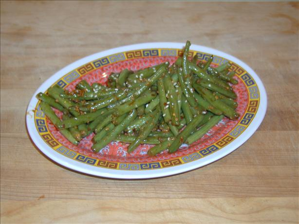 Hot Szechuan-Style Green Beans. Photo by Crabzilla