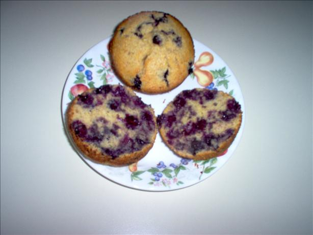 Cornmeal Blueberry Wheat Germ Muffins. Photo by Dorel