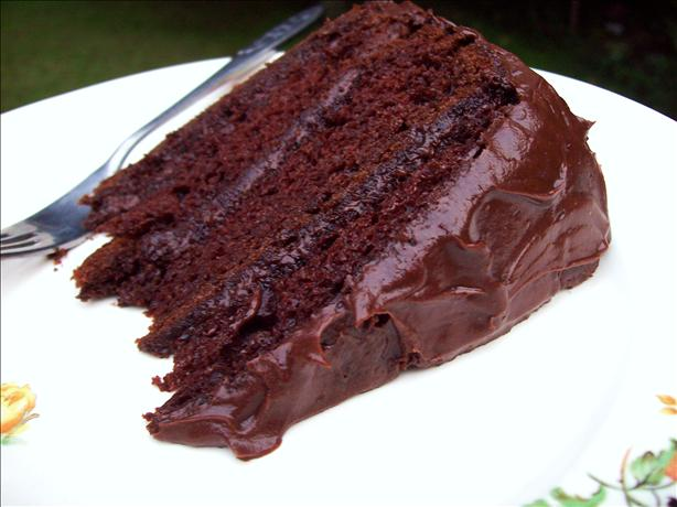 Darn Good Chocolate Cake ( Cake Mix Cake). Photo by Aunt Paula