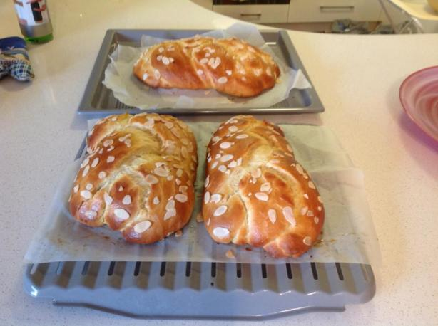 Tsoureki (Greek Easter Sweet Bread). Photo by Dimi L