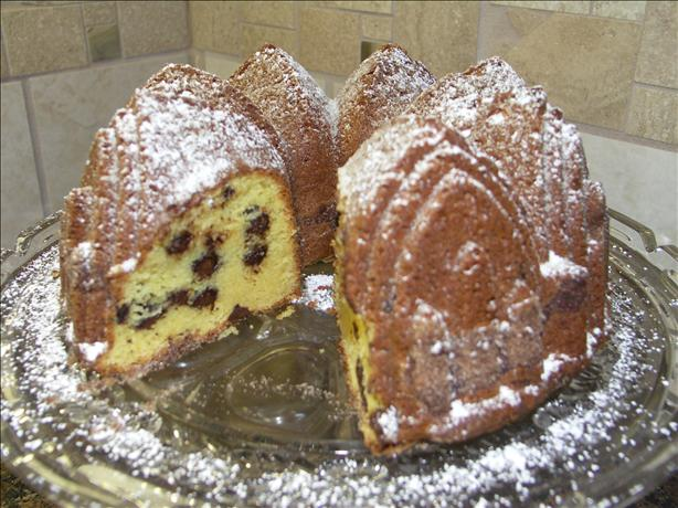 Chocolate Chip Sour Cream Pound Cake. Photo by Juenessa