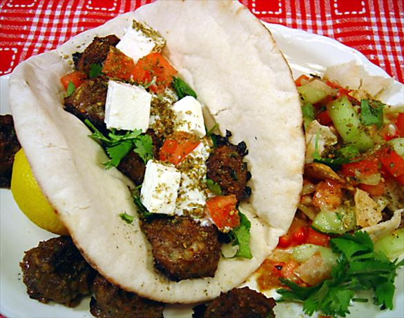 Grilled Mediterranean Kebabs on Pita. Photo by :(