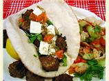 Grilled Mediterranean Kebabs on Pita