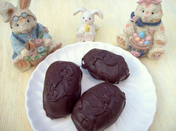 Chocolate Covered Peanut Butter Eggs. Photo by Aunt Paula