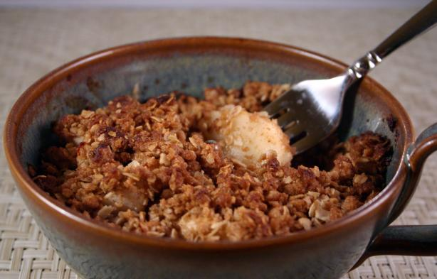 Apple or Pear Crisp for One. Photo by SashasMommy