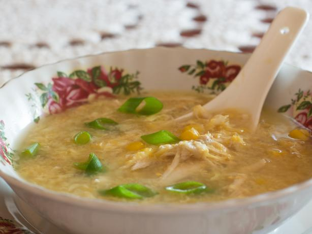 Chinese Chicken and Corn Soup. Photo by Peter J