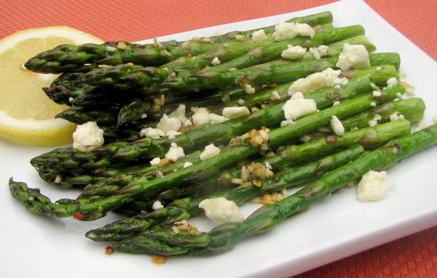 Roasted Asparagus with Feta. Photo by lazyme