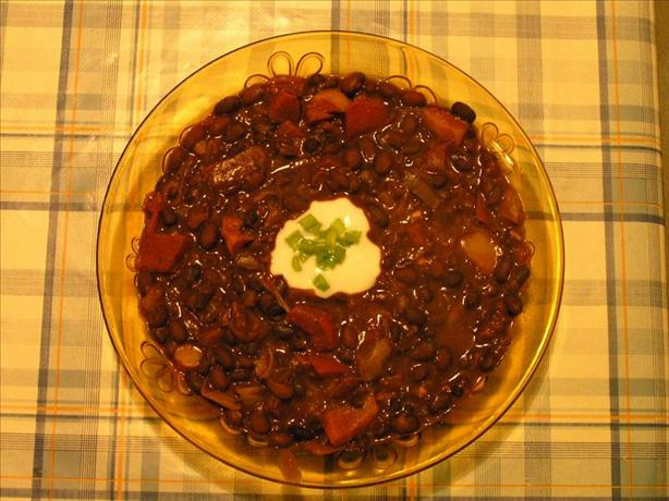 Black Bean and Chocolate Chili. Photo by vegitaliana