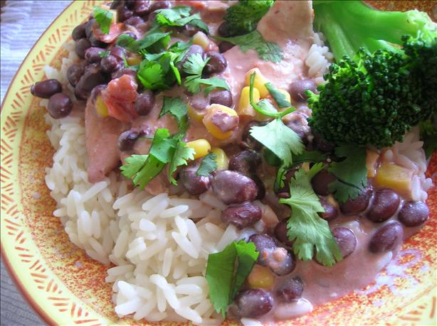 Crock Pot Chicken W/ Black Beans and Cream Cheese...yum!. Photo by Pam-I-Am