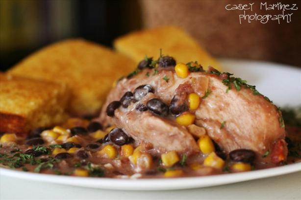 Crock Pot Chicken W/ Black Beans and Cream Cheese...yum!. Photo by keepin'itsimple