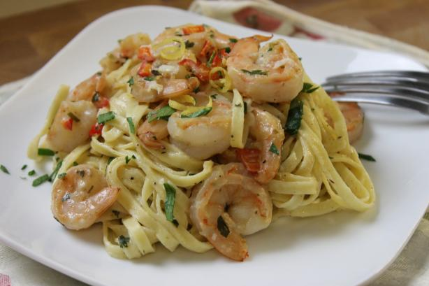Lemon-Shrimp Pasta. Photo by Mstwinkie61